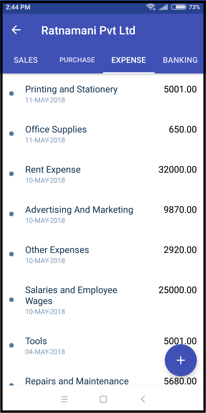 Expenses-tranactions-zybra mobile app