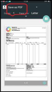 save pdf- zybra mobile app