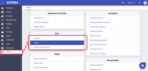 GSTR-1 Report-zybra gst accounting software